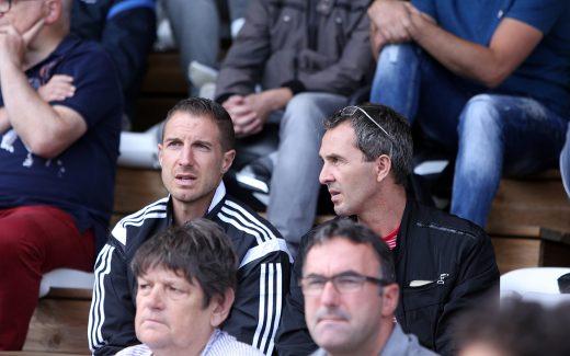 Grégory Vignal et Serge Romano ont assisté, mardi, au succès de l'UNFP FC sur Amiens (1-0).