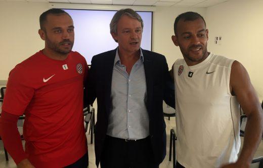 Laurent Pionnier, Sylvain Kastendeuch et le toujours jeune Hilton...