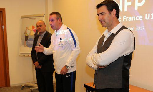 Philippe Lafon, Jean-Claude Giuntini, le sélectionneur, et Vincent Guérin.