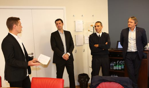 Didier Neumann (ESR), Philippe Lafon (DG UNFP), Hervé Piccirillo (CNSD), Sylvain Kastendeuch (coprésident UNFP).