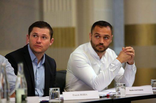 Malik Couturier et Laurent Pionnier, membres du Comitié directeur...