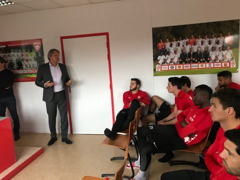 Sylvain Kastendeuch s'adresse aux joueurs de Nancy...